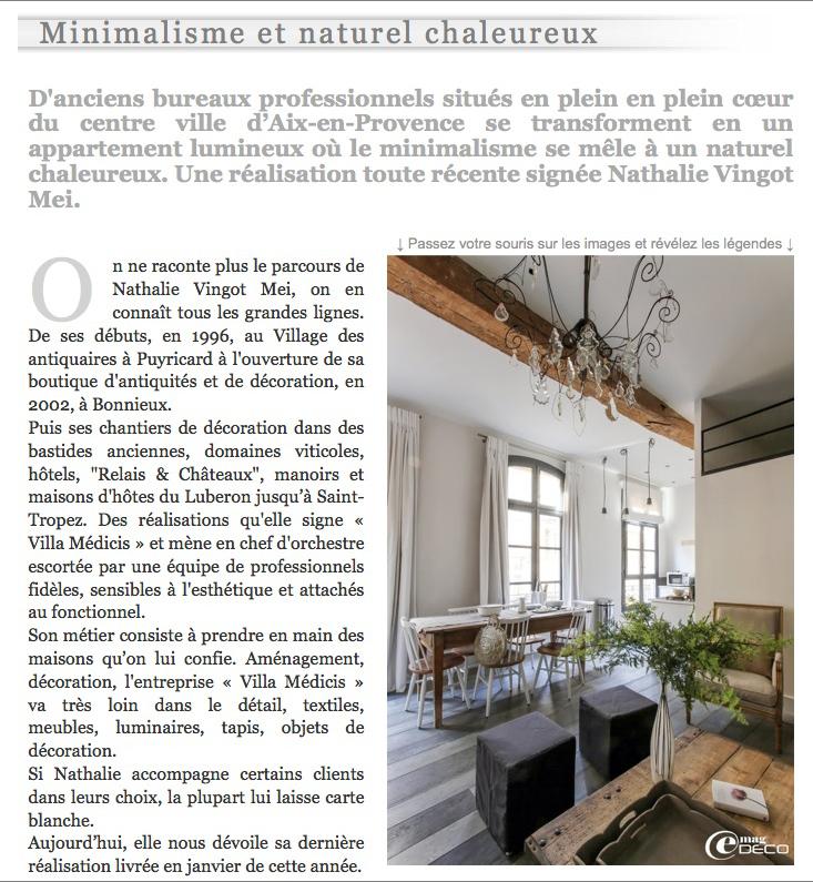 Nathalie vingot mei dans la presse - Magazine deco en ligne ...